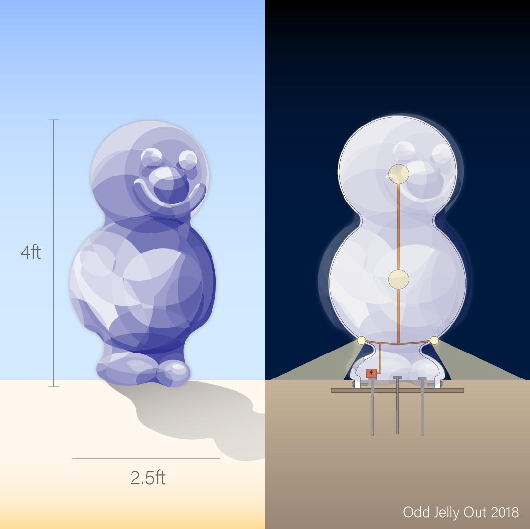 OJO dimensions + lighting