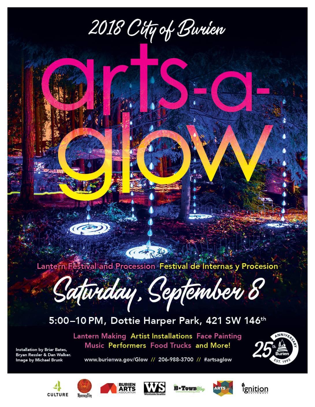 Arts a Glow 2018 Flyer